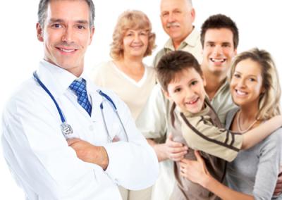 dokter met patienten